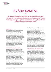 Protea ledarguide - Svåra samtal